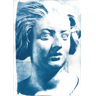 Bernini Woman Bust Cyanotype Print