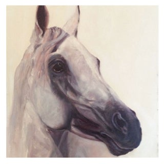 Vintage Original Painting of a Horse