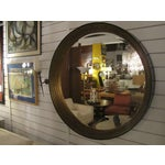 Image of Elegant Round Mirror with Gilded & Lacquered Frame
