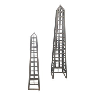 Large Steel Obelisks - A Pair