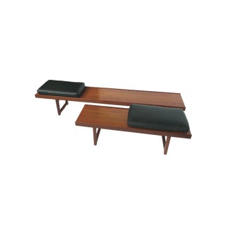 Torbjørn Afdal for Bruksbo Solid Teak Bench-Tables - A Pair