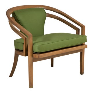 A Single Modernist Wooden Framed Armchair 1950s