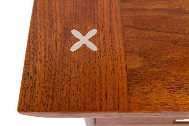 American Of Martinsville Drop-Leaf Walnut Desk : Chairish