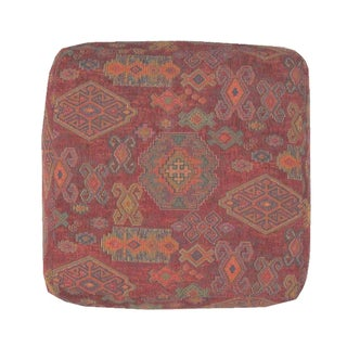 Ottoman with Kilim Style Fabric
