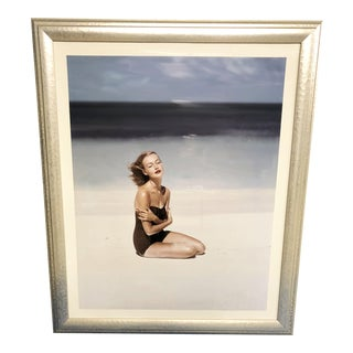 "Vogue Magazine Cover ""Woman On White Sand Beach"" Artist-John Rawlings, July 1953"