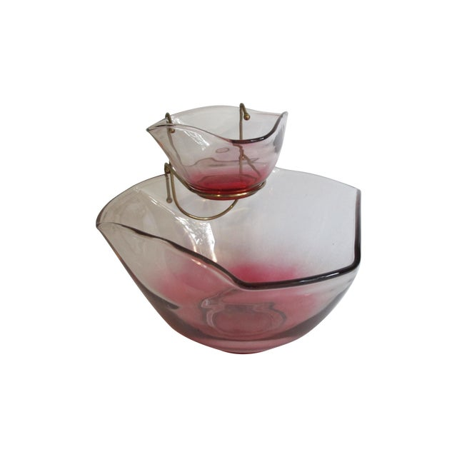 Cranberry Red Chip & Dip Bowl - Image 1 of 8