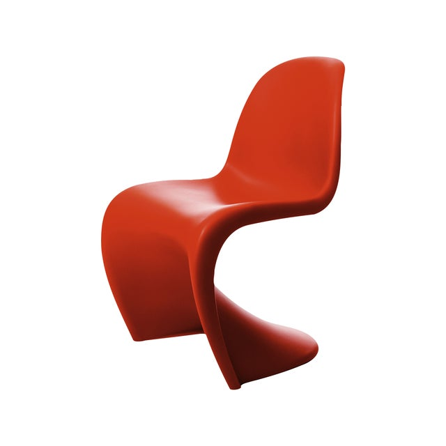Image of Red Vitra Panton Chair - a Pair - Retail $620