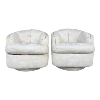 """Vintage """"Fat"""" Swivel Chairs - a Pair"""