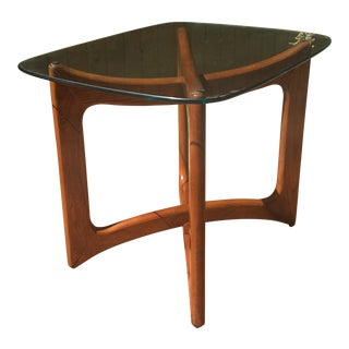 Adrian Pearsall Wood & Glass Ribbon Side Table