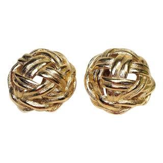 Givenchy Goldtone Basket-Weave Earrings