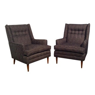 Restored High Back Lounge Chairs - A Pair