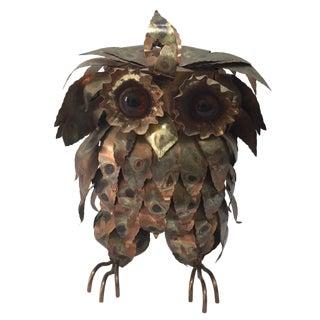 Large Brutalist Torch Cut Owl