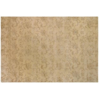 Tone on Tone Floral Rug - 6′3″ × 9′1″