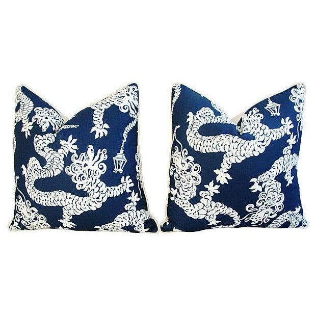 Lee Jofa Lilly Pulitzer Blue Pillows - A Pair - Image 7 of 7