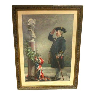 1890s Saluting The Admiral Framed Military Print