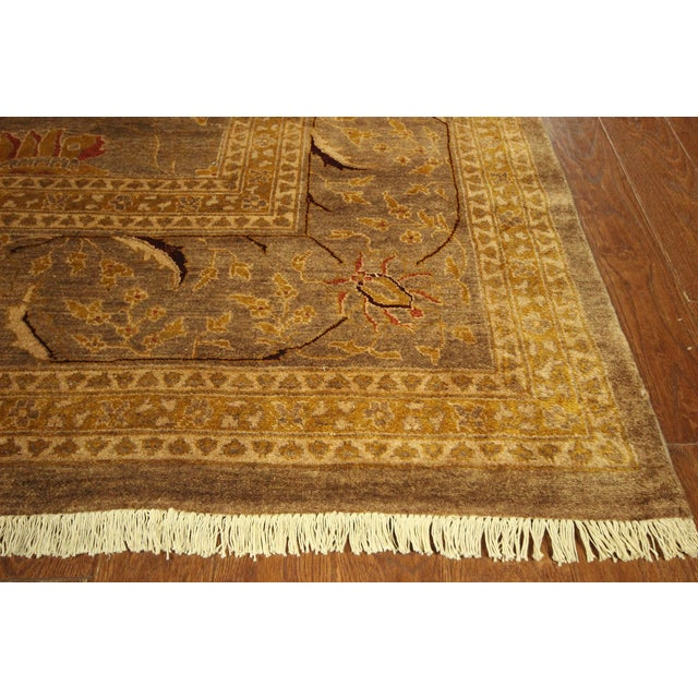 """Oushak Collection Brown Rug - 12'1"""" x 15'10"""" - Image 5 of 10"""