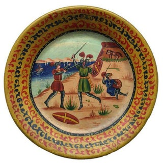 Vintage Sicilian Souvenir Hand Painted Wall Plate