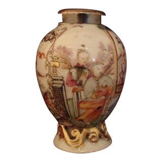Vintage Chinese Mandarin Hand Painted Vase