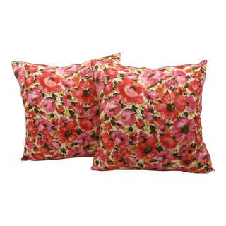 Vintage Floral Pillows - A Pair