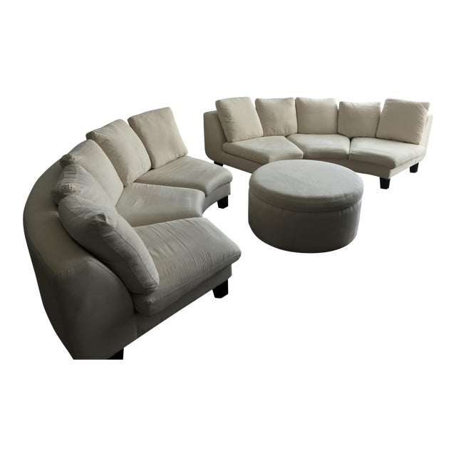 Dubuffet Sofas & Ottoman by Rodolfo Dordoni - Set of 3 - Image 1 of 6