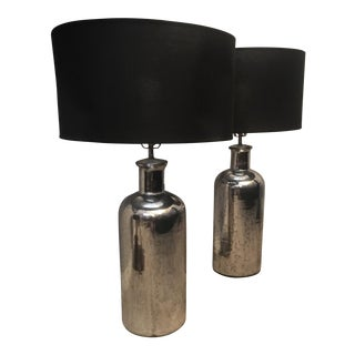 Restoration Hardware Mercury Glass Table Lamps - A Pair