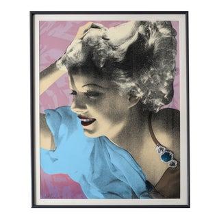 Jean Harlow Silkscreen by Richard S Duardo