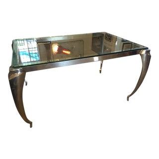 80s Industrial Deco Style Organic Table
