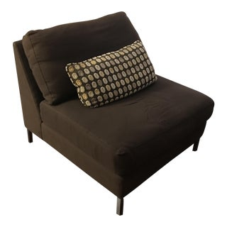 Brown CB2 Lounge Chair