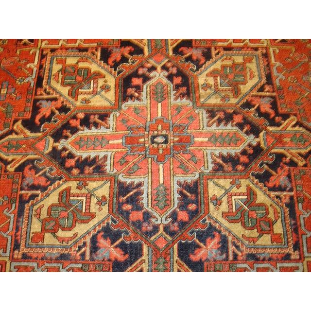 """Antique Persian Heriz Rug Bb2402: Antique Persian Heriz 7'6"""" X 10'6"""" Rug"""