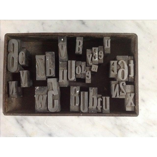 Vintage Industrial Letterpress Blocks - Set of 34 - Image 3 of 8