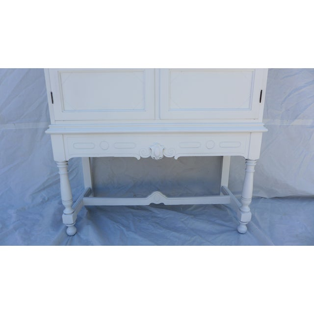 Antique White Painted Cabinet - Image 4 of 8