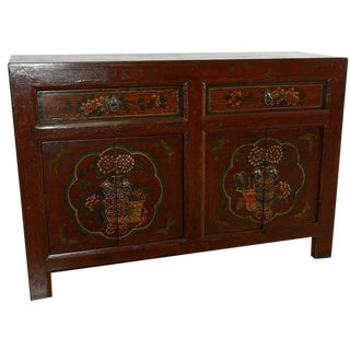 Antique Mongolian-Style Sideboard