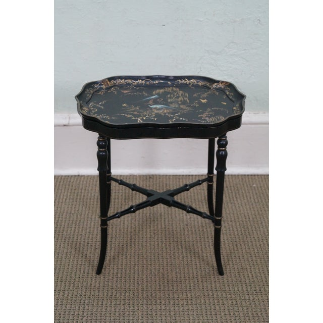 Jennens & Bettridge Hand Painted Tray Top Table - Image 2 of 10