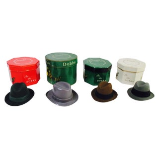 Miniature Salesman Sample Trinkets Hat Boxes - S/4