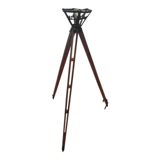 Vintage Oak Surveyor's Tripod