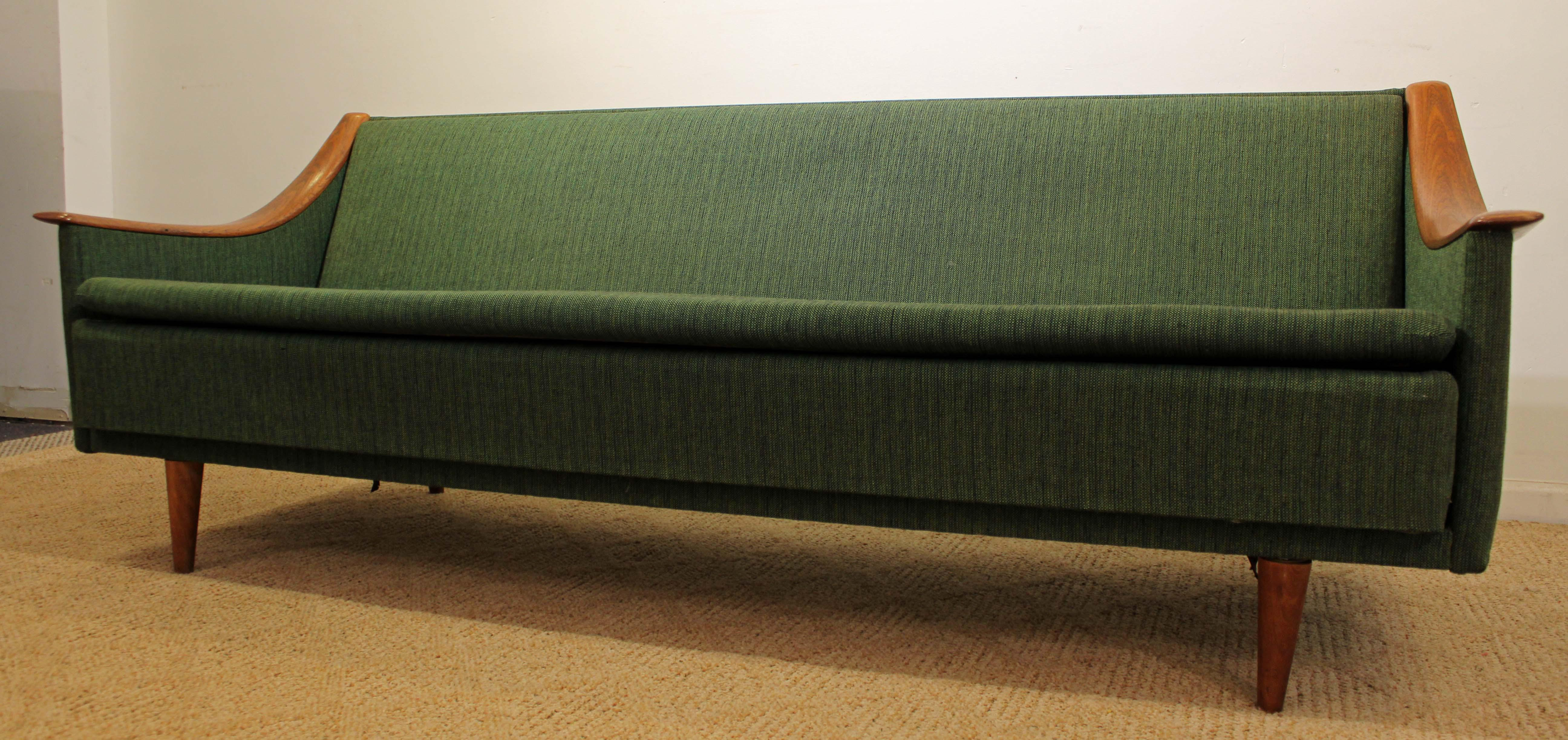 Mid Century Danish Modern Adrian Pearsall Style Sofa   Image 3 Of 11
