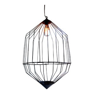 Large Industrial Wire Cage Pendant Lamp
