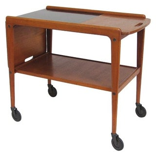 Yngve Ekstrom Teak Serving Cart