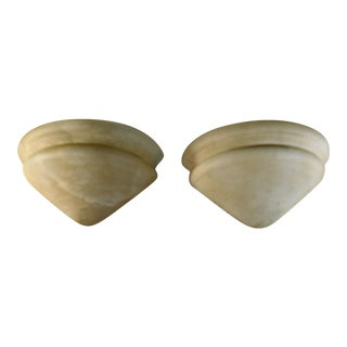 Antique Alabaster Sconces - a Pair
