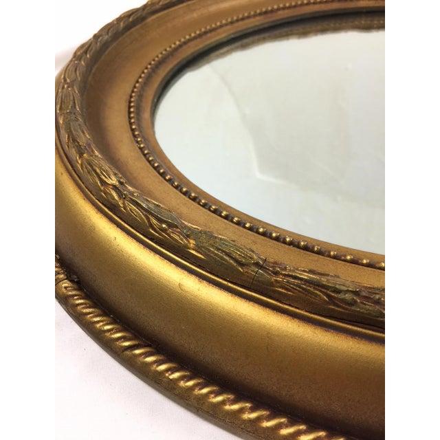 Image of Vintage Hollywood Regency Style Giltwood Oval Mirror
