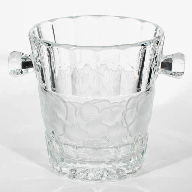 Image of Vintage Floral Glass Champagne Ice Bucket