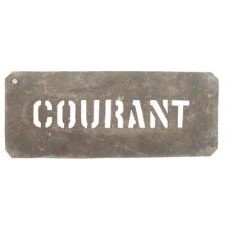 French Zinc Stencil