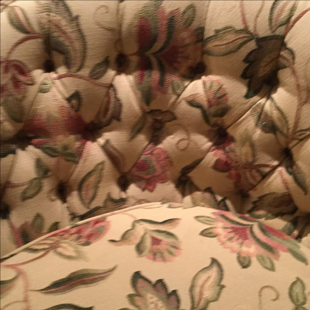 Mid-Century 1950 Floral Pattern Settee - Image 6 of 7