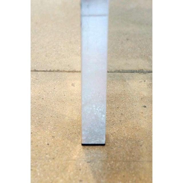 Image of Burled Walnut & Aluminum Console