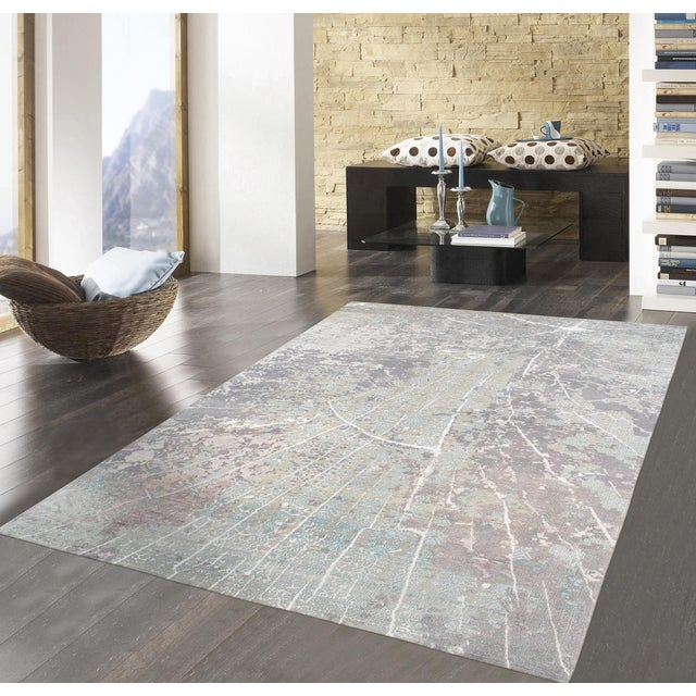 "Pasargad Transitional Silk/Wool Rug - 8' x 10' 2"" - Image 5 of 5"