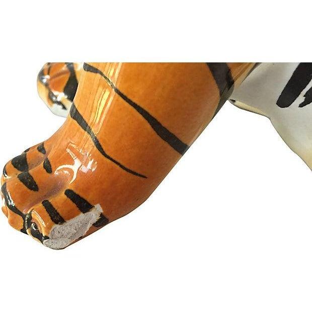 Hand Painted Italian Ceramic Tiger Cub - Image 4 of 6