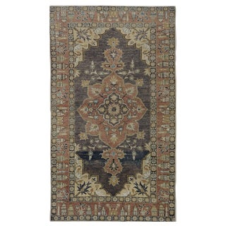 "Vintage Turkish Oushak Rug - 4'1"" x 7'2"""