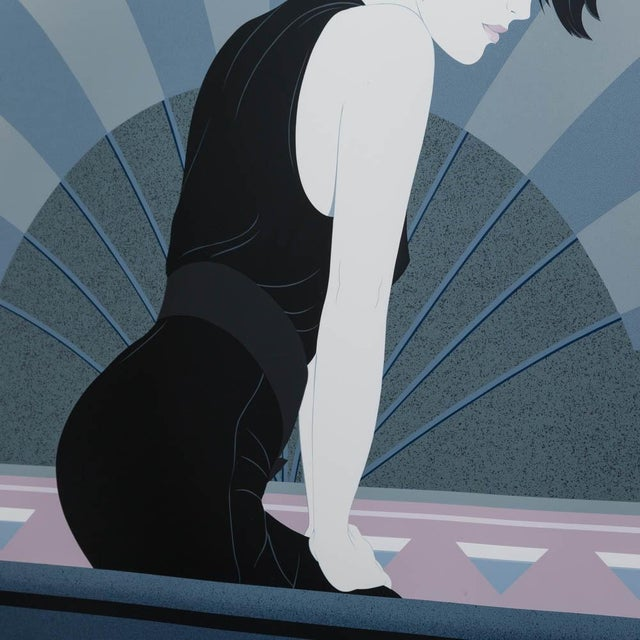 Image of A Framed Art Deco Style Limited Edition Print of a Woman