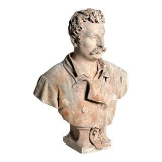 Plaster Bust of Henri René Albert Guy de Maupassant