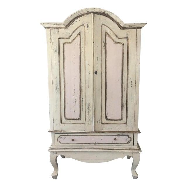 Antique Pastel Armoire - Image 1 of 6